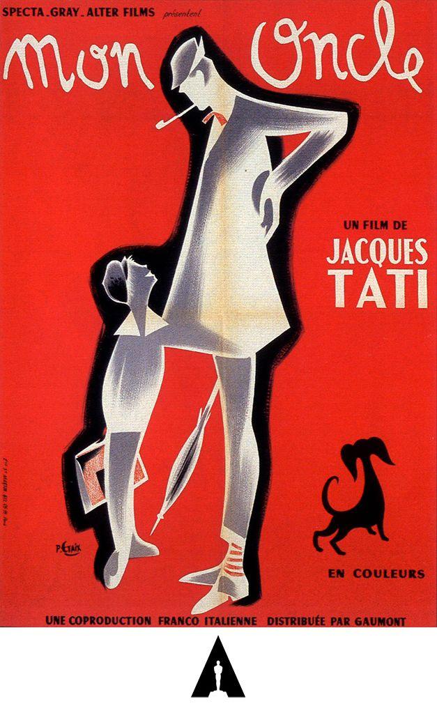 Mi Tío Mon Oncle 1958 Francia Italia Dirección Jacques Tati Oscar A La Mejor Pelícu Oscar Mejor Pelicula Carteles De Película Antiguos Carteles De Cine