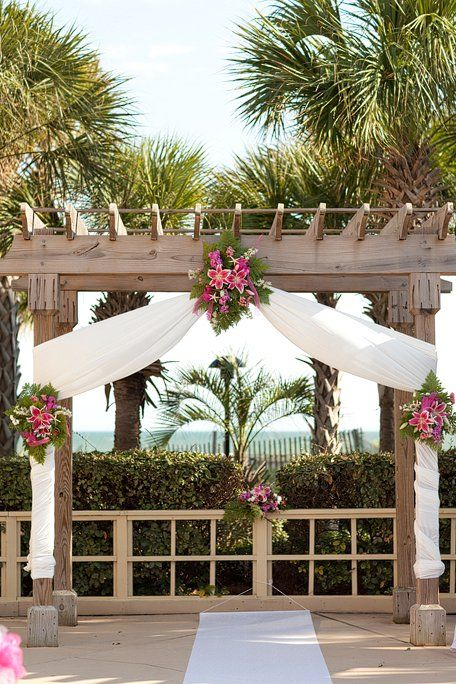 Beach Wedding Ceremony Breakers Pool Deck Kingston Plantation Myrtle