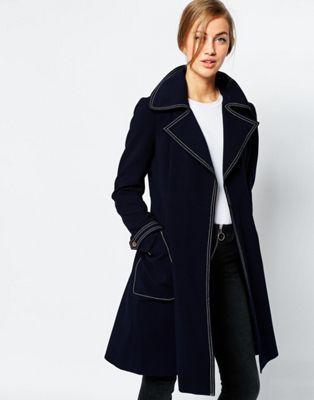 ASOS - Manteau avec surpiqûres sur le dessus
