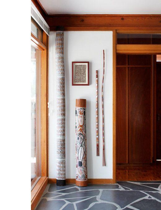 Didgeridoo on display.