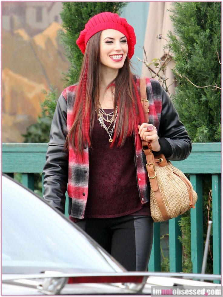 Meghan Ory as Red Riding Hood in Once upon a time.  i love the color. hair ideas for Halloween!!!