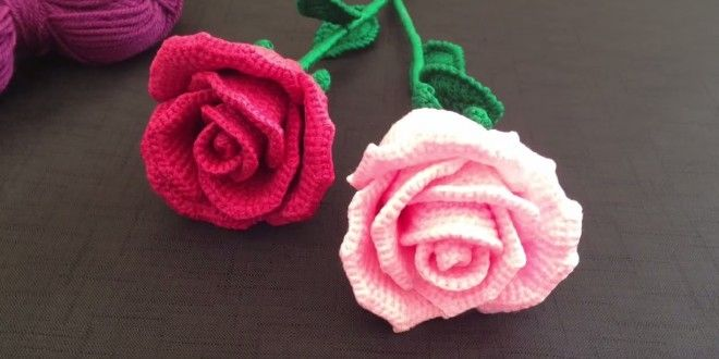 How to crochet a rose tutorial