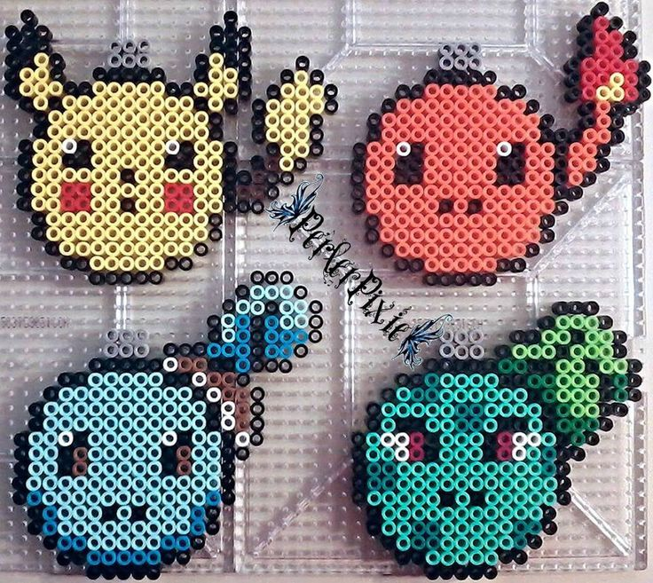 Pokemon Christmas ornaments perler beads by PerlerPixie on deviantART