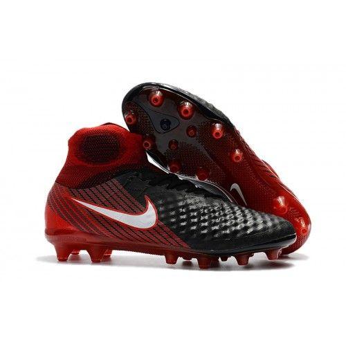 finest selection d43f0 7e498 Nike Magista Obra II AG Fotbollsskor Svart och rött