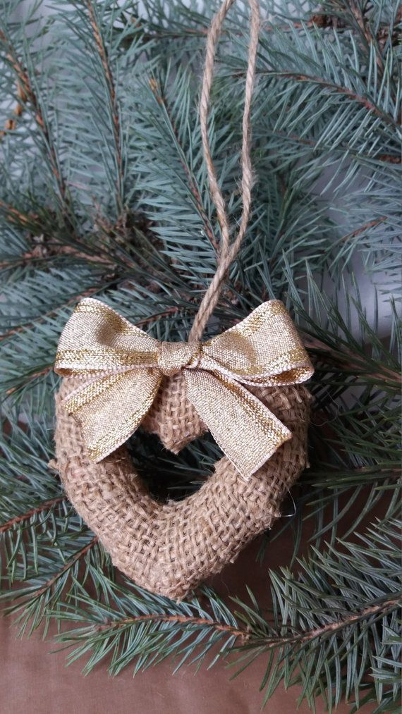 Christmas heart Christmas decoration от RusticShopUkraine на Etsy