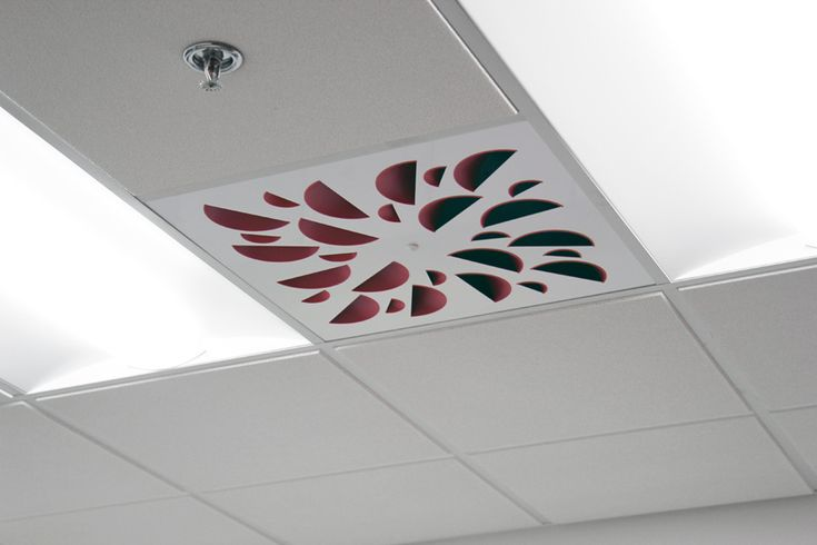 NEX-S Architectural Ceiling Diffuser with Red Concave Elements