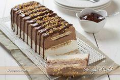 Semifreddo panna cioccolato e biscotti