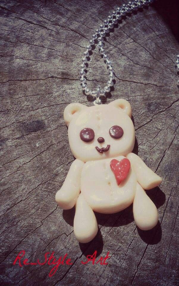 Teddy Love in fimo