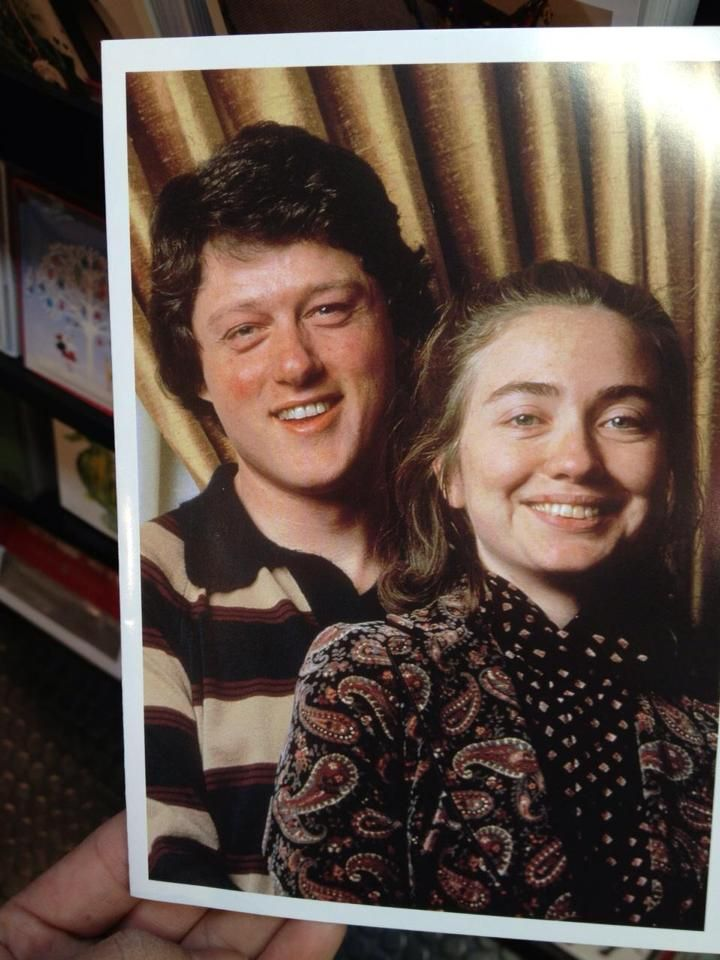 Bill and Hillary's college photo