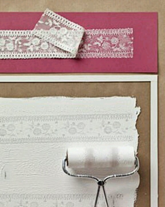 Stamping lace