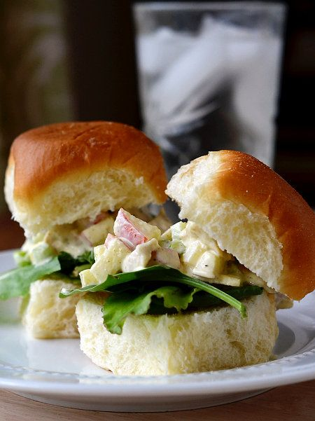 Curry Chicken Salad Sliders... oh YUM!