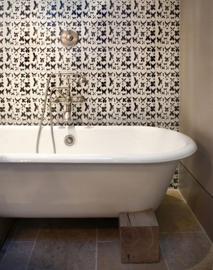 Nicole Hollis The Ceramic Square Butterfly Tiles On The Wall Are From  Bardelli In Italy And