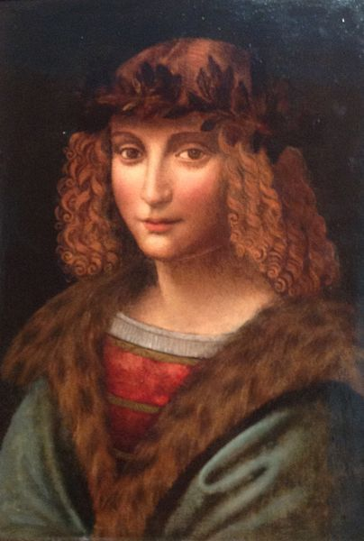 Portrait of Salai - Pupil and assistant of Leonardo da Vinci - Leonardo da Vinci, oil in panel 37 x 29. (1505)