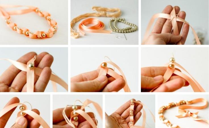 Beaded Ribbon Bracelet