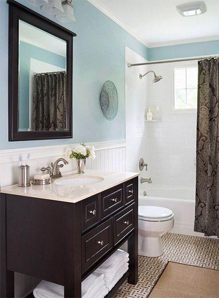 Best 25 blue bathrooms designs ideas on pinterest blue for Small blue bathroom ideas