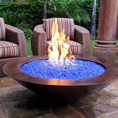 """1 Pound Of 3/4"""" Cool Colored Reflective Fireglass Crystals For Fire Pits Or Gas Fireplace"""