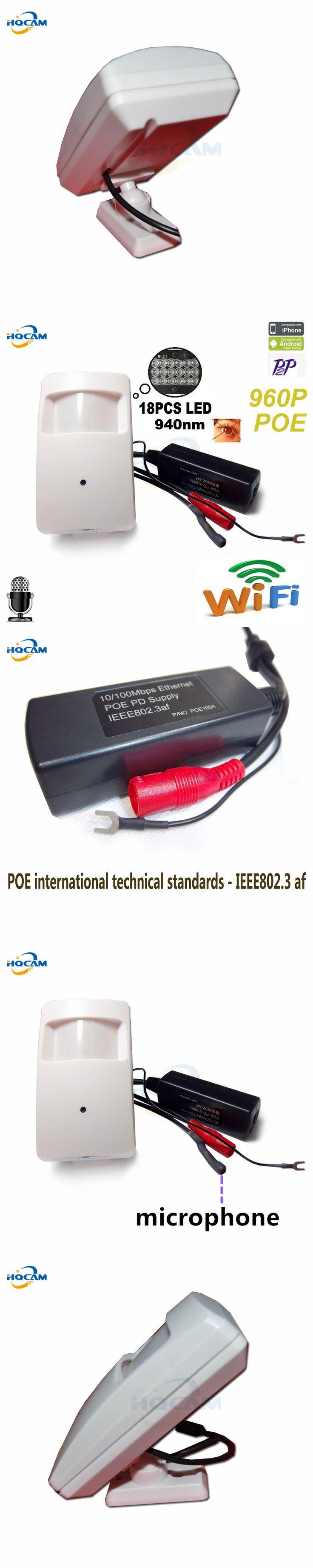 960P Wireless PIR POE Wifi IP Camera Audio Camera Mini Wifi 940nm Led Ir Ip Kamera IR Cctv Cam Night Vision camera HI3518E