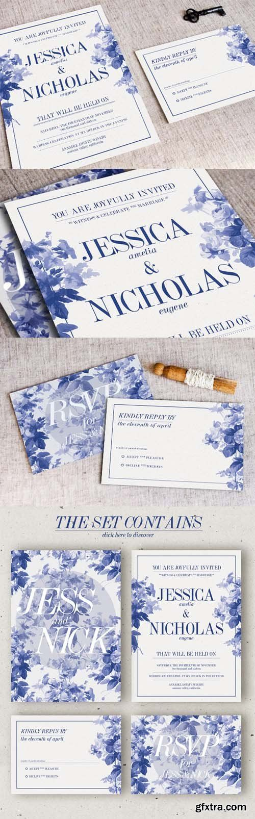 wedding invitation sample by email%0A CM  China Blue Wedding Invitation
