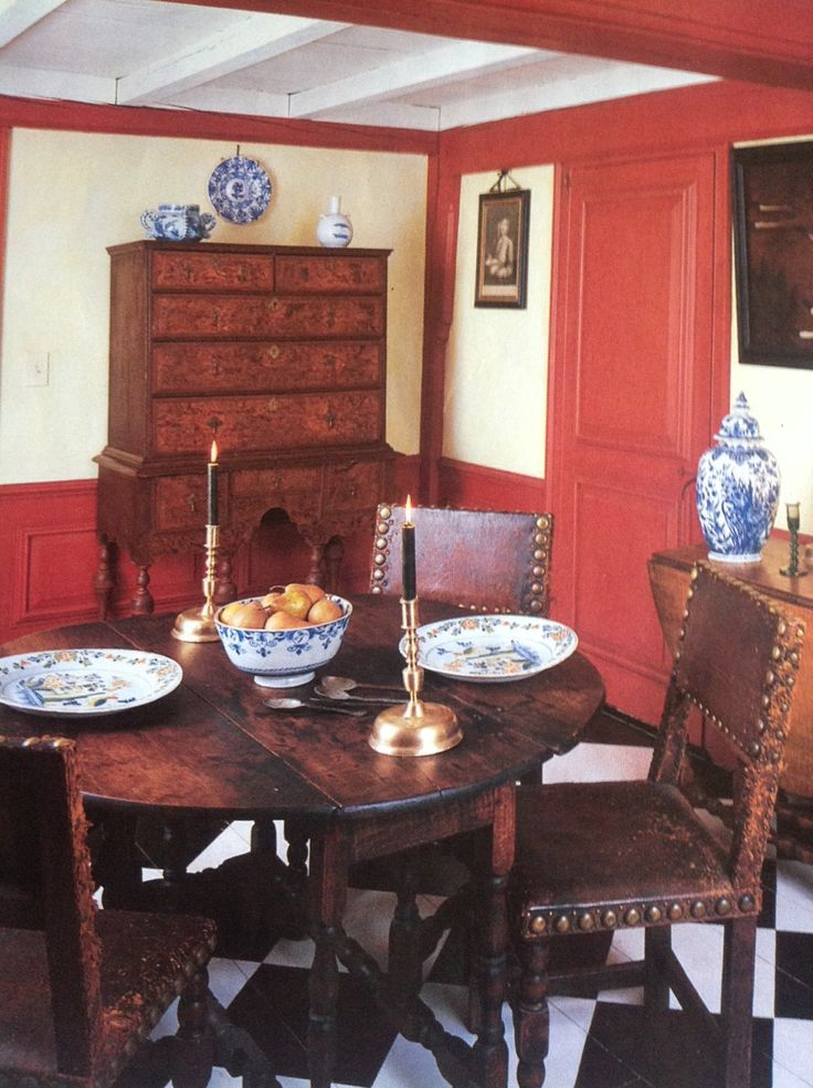 Dining Room Same House 17th Century Scrapbook