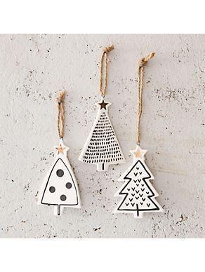 Geschenkideen für die Weihnachtszeit PinWire: GLAS Deko-Hänger aus Keramik 3-teilig Baum | Kunst und …