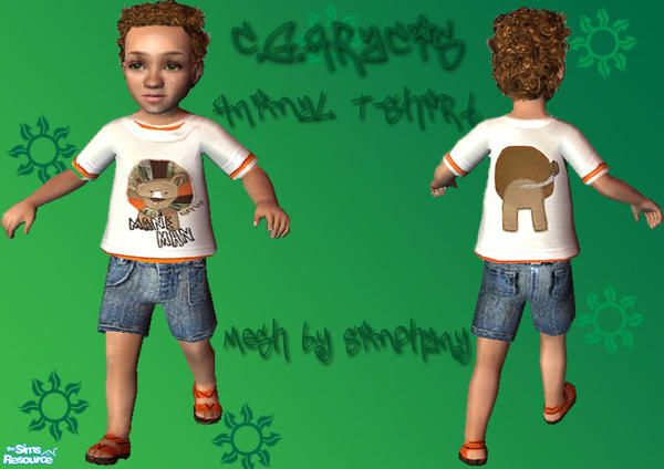 C.G.Aracis' Animal T-shirt with shorts