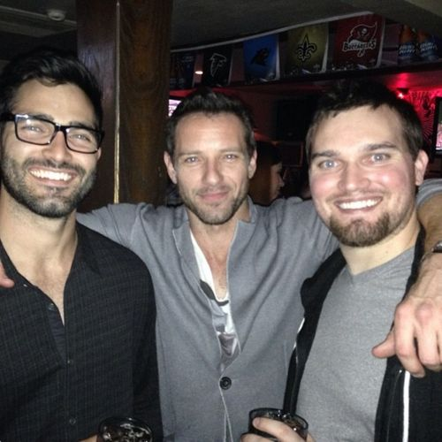 tyler hoechlin, ian bohen, and hoechlin's brother tanner