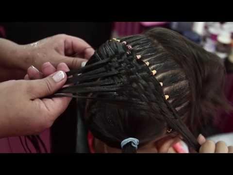 Peinado para fiesta - Canasta Ligas y cola de caballo - YouTube