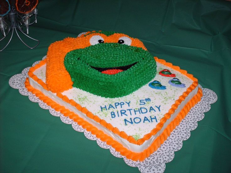 Michaelanglo ninja turtle cake - I made this for my sons 5th birthday.  All the little boys at the party loved it.