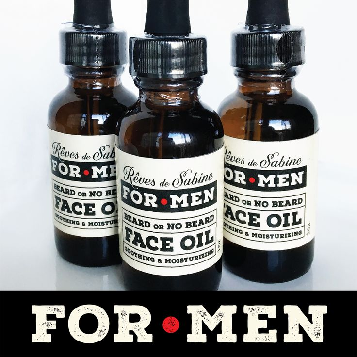 Beard or no beard, a man's face needs TLC! Rêves de Sabine's face oil for men is here! Beautiful blend of anti-oxidant rich oils, natural non-GMO Vitamin E and healing essential oils.