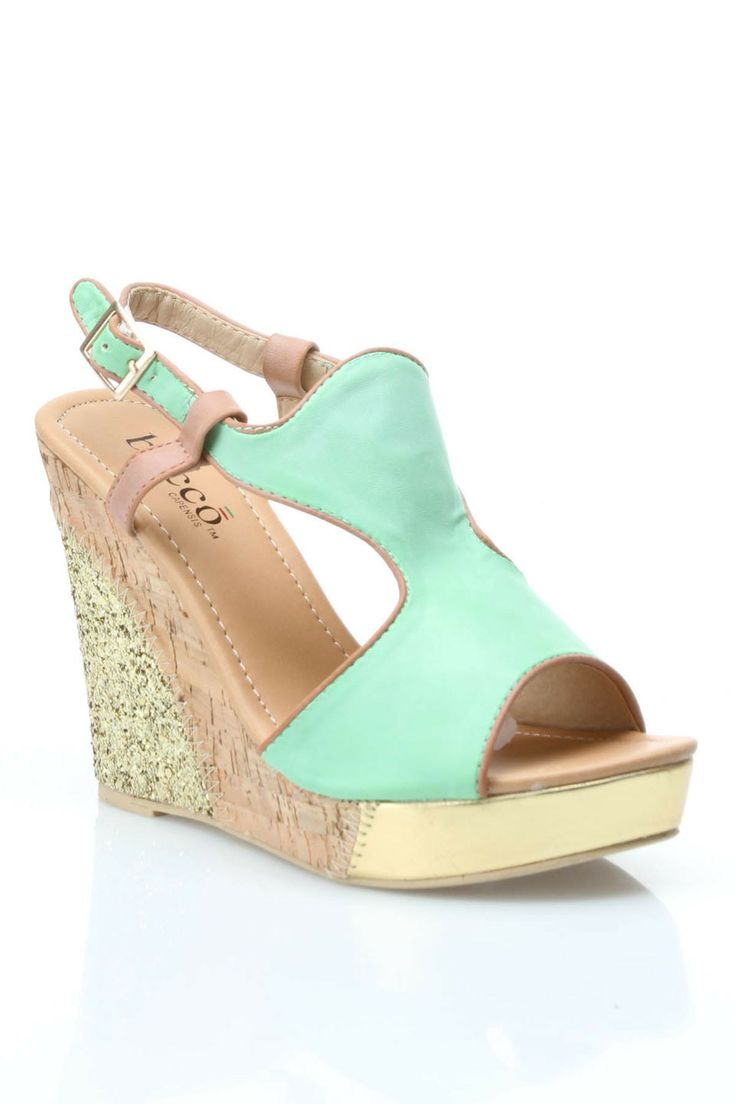 Althea Wedges in Green - Beyond the Rack