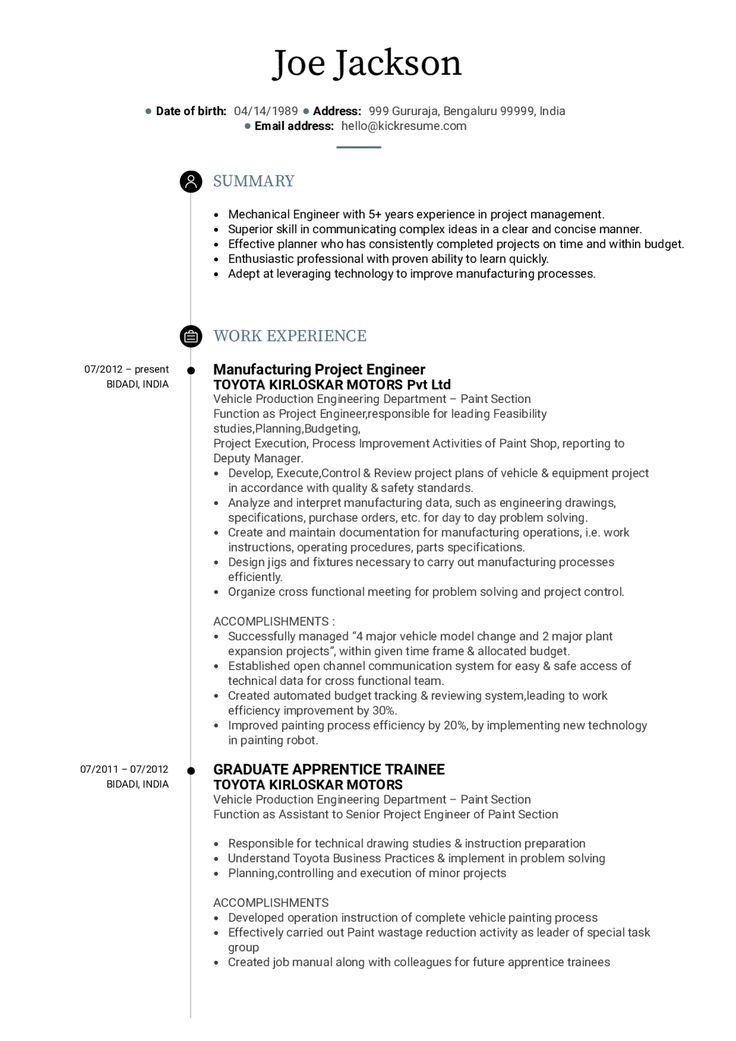 Download Executive Summary Template Engineering in 2020