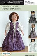 Renaissance 18 Doll Clothes Pattern by Carpatina, $9.95: Dress Patterns, Carpatina Dolls, Doll Clothes Patterns, Girls Dolls, Doll Patterns, American Girl Dolls, Dolls Patterns, Renaissance Dresses, American Girls