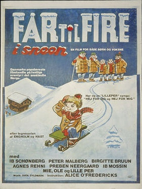 """""""Far til fire i sneen"""". Danish family film."""