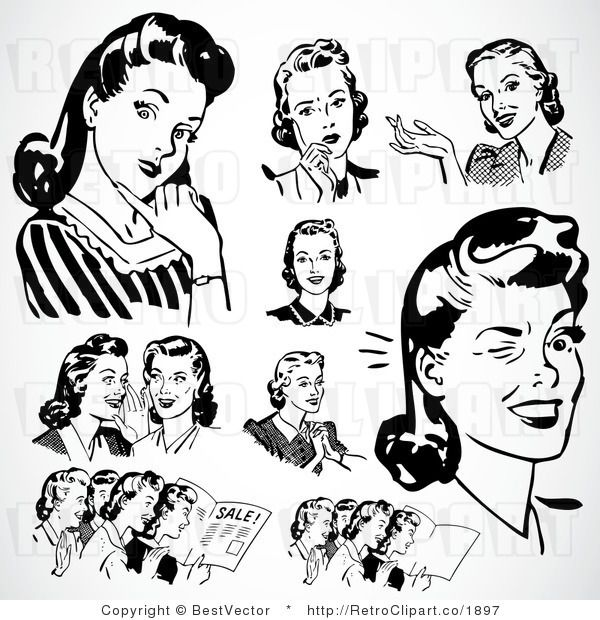 Retro Clip Art Could Make A Cool DIY