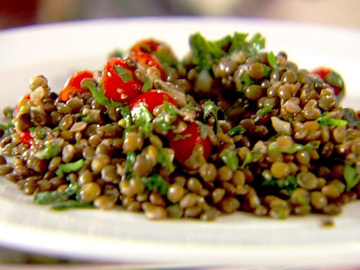 Herbed Lentils with Spinach and Tomatoes Recipe : Food Network - FoodNetwork.com