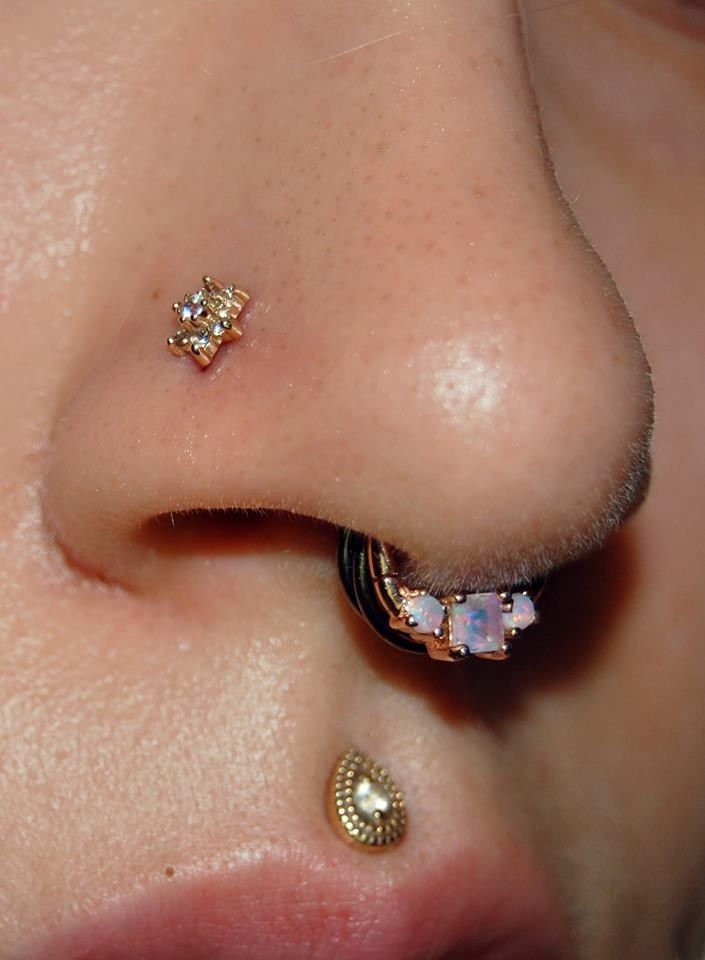 Love the first septum the two others are too much... Like all the individual jewelry are like really pretty by its too much for that little of space