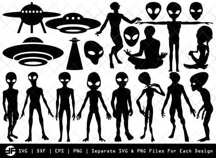 Alien SVG in 2020 | Silhouette, All silhouettes, Clip art