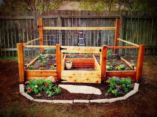 Raised Garden Bed Fence Protection From Dogs