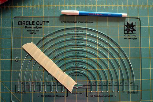 Using circle cutting ruler for quilting template! Good pictures for a tutorial. kt