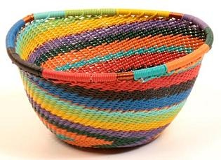 Contemporary Baskets, Woven Baskets, Wire Basket, Zulu, View Source,  Hottes, Red Black, Sustainable Style, Southwest Style