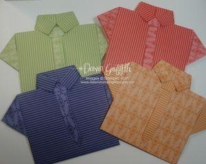 Shirt & tie cards http://www.dawnsstampingthoughts.net/2010/07/shirt-card-video-.html