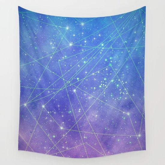 Map Of The Stars Wall Tapestry