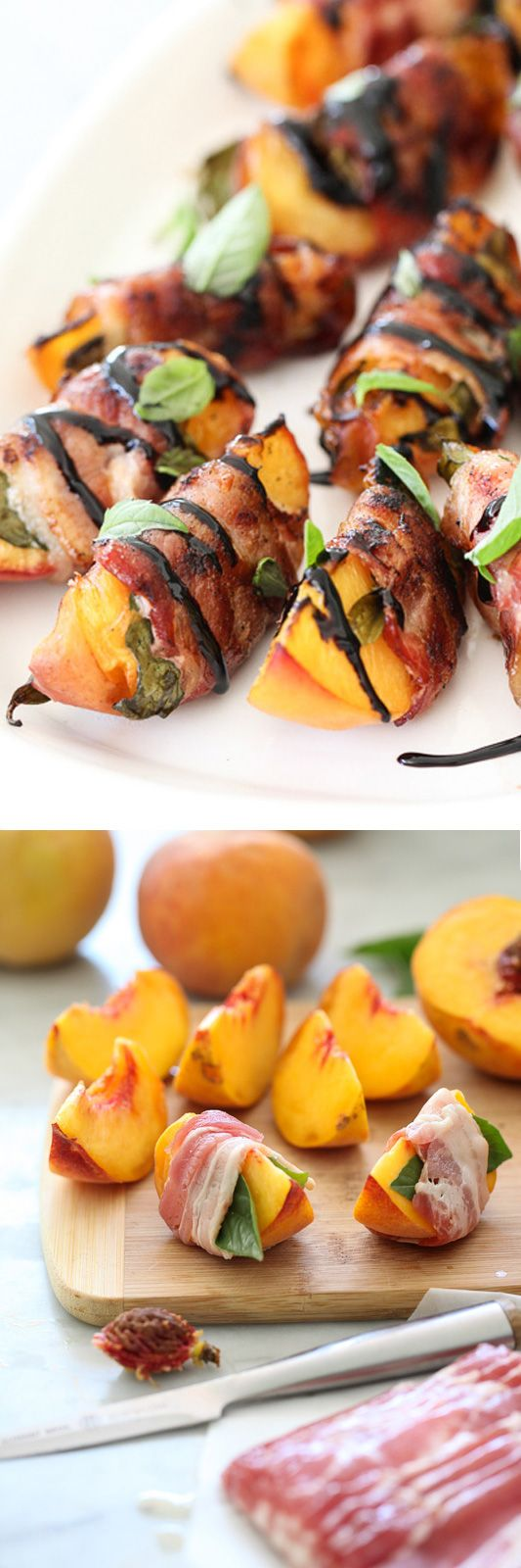 Salty bacon amps up the sweetness of local peaches at their peak freshness and…