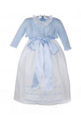 Faldón +chaqueta para bebé con falda de piqué