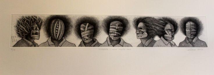 Álvaro Santiago. Cincuenta y nueve punto seis. 2012. Agua fuerte y agua tinta, 4/15, 29x78 cm, $4,000 mn