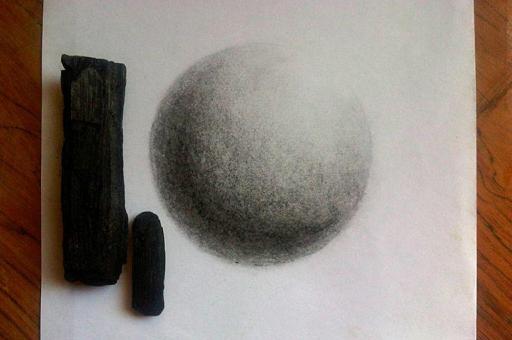 practica con carbón