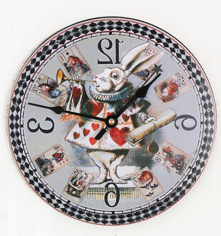 alice in wonderland clock clipart - photo #3