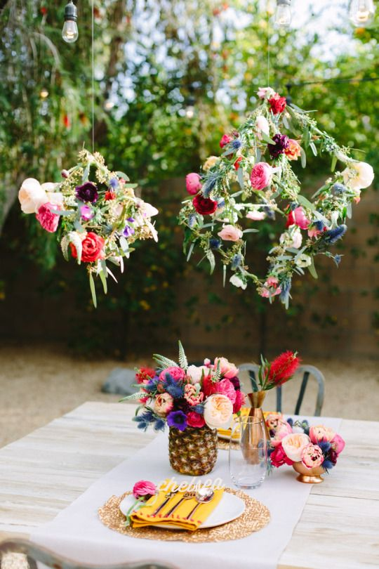 Our Floral Tablescape In Palm Springs Fiesta Foreva Pinterest