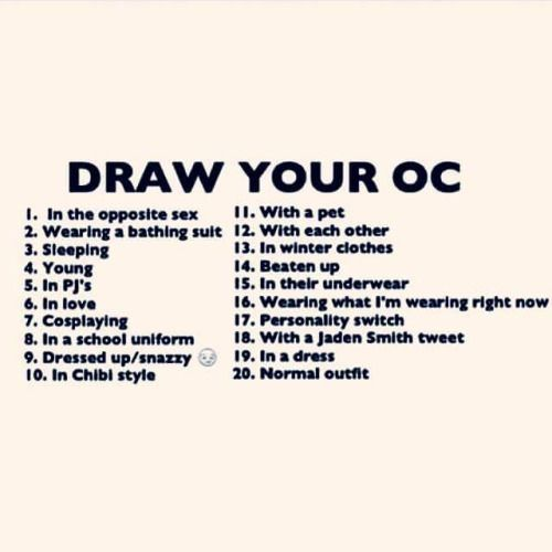 draw your ocs as _____