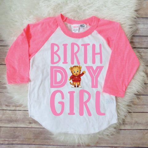 Daniel tiger birthday girl shirt, Daniel tiger party, Baby girls birthday shirt, Daniel tiger birthday theme, Daniel tiger birthday party by JADEandPAIIGE on Etsy https://www.etsy.com/listing/575786026/daniel-tiger-birthday-girl-shirt-daniel